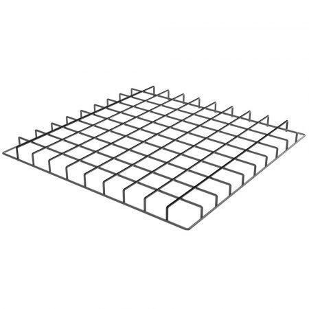 RÁCSOS rozsdamentes acél polc betét moduláris asztalhoz