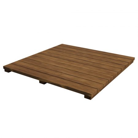 Akácfa polc betét moduláris asztalhoz